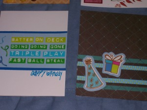 Handmade cards, blue and green colors