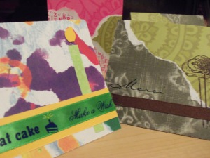 Handmade card sample, detail