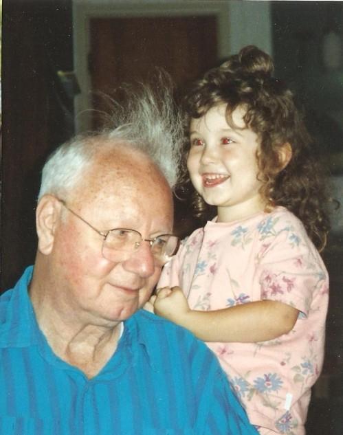 Grandpa and me, circa 1993