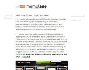 Memolane blog, http://blog.memolane.com/