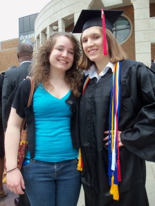 Birthday girl, Kristin, and I outside the MACC after graduation, May 7