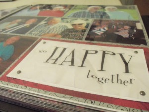 """Third page, """"So happy together"""" vellum quote"""