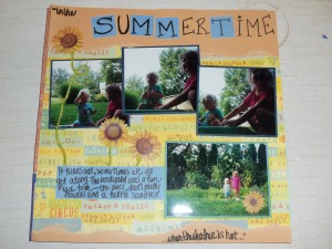 Summertime scrapbook page