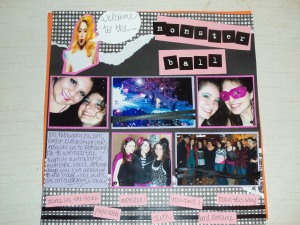 Lady Gaga concert scrapbook page