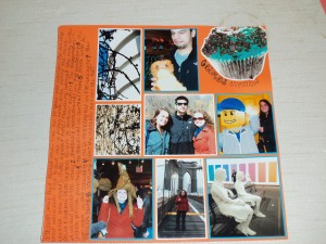 NYC scrapbook page