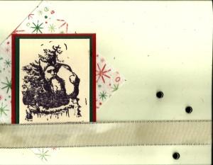 Santa stamp Christmas Card