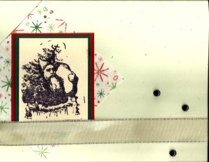 Santa stamp Christmas Card