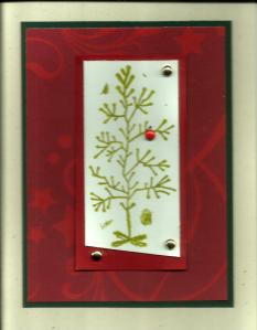 Tree stamp Christmas card