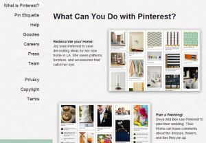 Pinterest about page