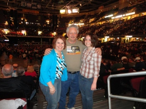 Jane, Dad and I at the Bruce Springsteen concert