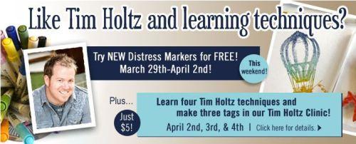 Tim Holtz products Techniques Clinic