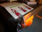 handmade Christmas card with Santa stamp