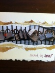 handmade Valentine's Day card with love locks