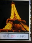 Valentine's Day card with Eiffel Tower photo