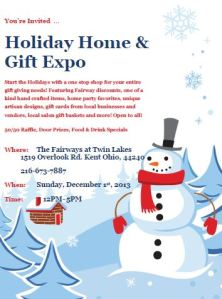 Holiday Home & Gift Expo flyer